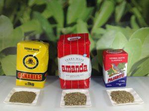 Pulvergehalt unterschiedlicher Sorten Mate Tee
